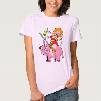 pig lady rides a hog t shirt