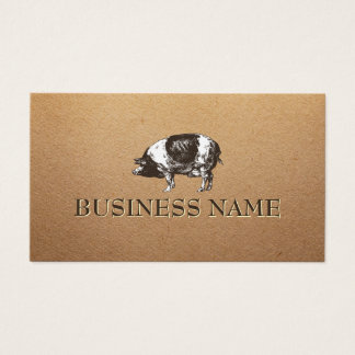 Pig Livestock Farming Rustic Paper Business Card