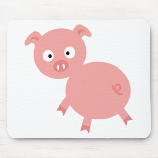 Pig looking surprised mouse pad