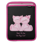 Pig Love (customizable) Sleeves For iPads