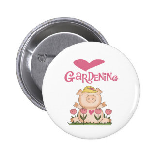 Pig Love Gardening Tshirts and Gifts Pinback Button
