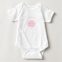 Pig Love Infant One Piece Outfit Baby Bodysuit
