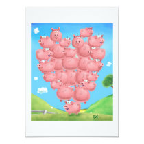 Pig Love invitation