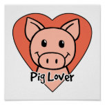 Pig Lover Poster