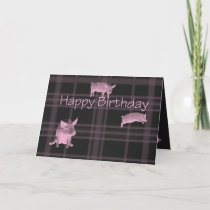Pig lovers birthday card