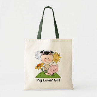 Pig Lovin' Girl Budget Tote Bag