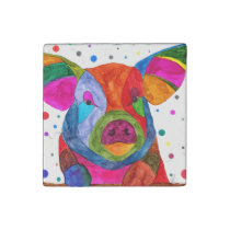 Pig Marble Magnet (You can Customize)