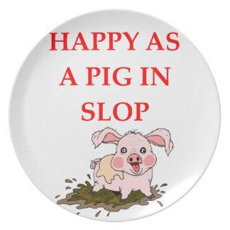 PIG MELAMINE PLATE
