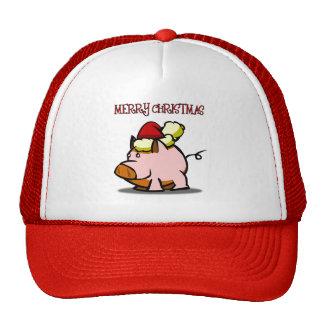 Pig Merry Christmas Cap Trucker Hat