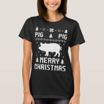 PIG Merry christmas Sweaters T-shirt