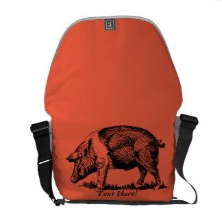 Pig Messenger Bag