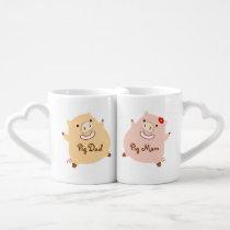 Pig Mom & Dad Matching Mugs
