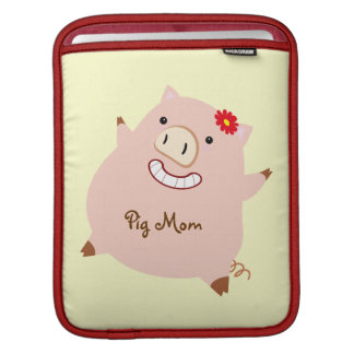 Pig Mom (pretty pig) Sleeves For iPads