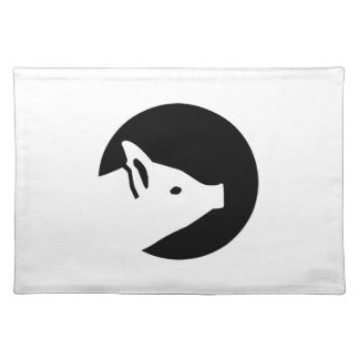 Pig moon cloth placemat