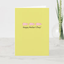 Pig Mother's Day Card