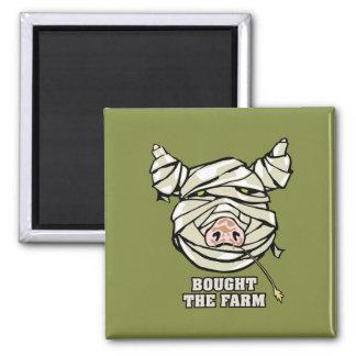 Pig Mummy 2 Inch Square Magnet