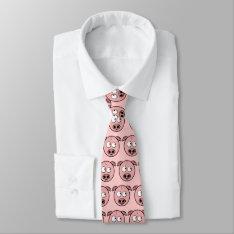 Pig Neck Tie at Zazzle