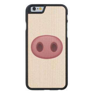 Pig Nose - Emoji Carved Maple iPhone 6 Slim Case