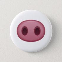Pig Nose - Emoji Pinback Button