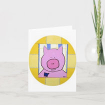 Pig Note Card