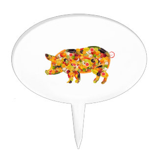 Pig of fruits and vegetables. Add your own text! Decoración De Tarta
