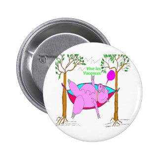 PIG On holiday 1.PNG 2 Inch Round Button