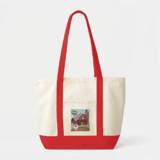 Pig on the Farm Tote Bag