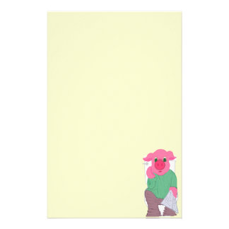 Pig on the Hopper II Stationery