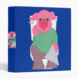 Pig on the Toilet Binder