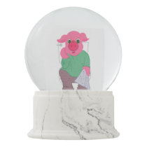Pig on the Toilet Snow Globe