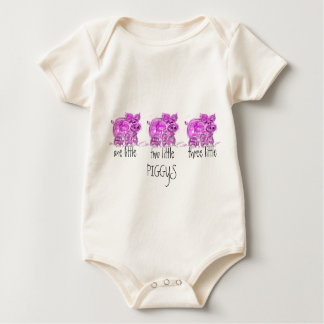 pig-one two three little... romper