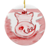 Pig ornament, fun gift ornament for pig lovers