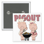 Pig Out BBQ Gift Pinback Button
