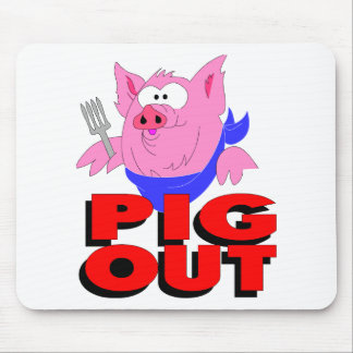 pig out mouse pad