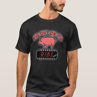 Pig out on ribs T-shirt