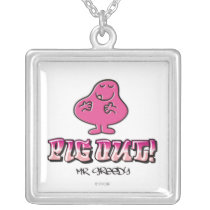 Pig Out! Silver Plated Necklace