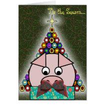 Pig Out Xmas Card