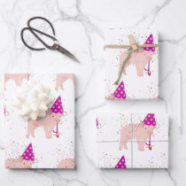 Pig Party Animal Wrapping Paper Sheets