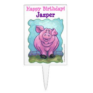 Pig Party Center Cake Topper
