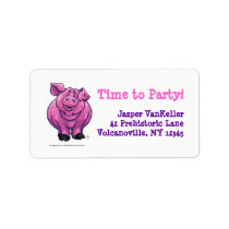 Pig Party Center Label