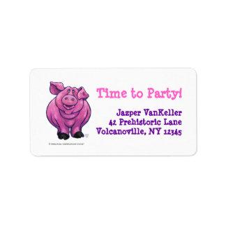 Pig Party Center Custom Address Labels