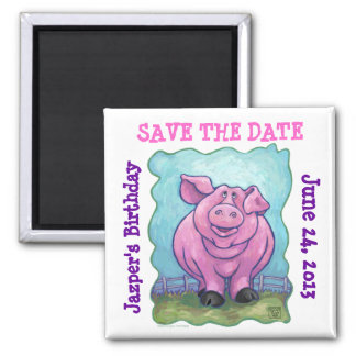 Pig Party Center Magnet