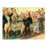 Pig Party Postcard