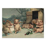 PIG PARTY STATIONERY NOTE CARD