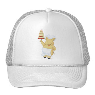 Pig Pastry Chef Hat