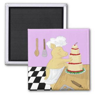 Pig Pastry Chef Refrigerator Magnet Fridge Magnet