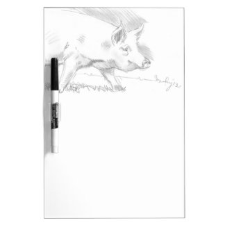 Pig Pencil Drawing Dry-Erase Board