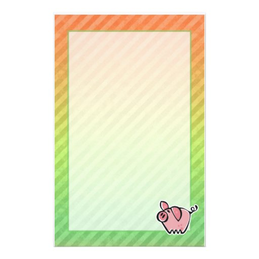 Pig Personalized Stationery