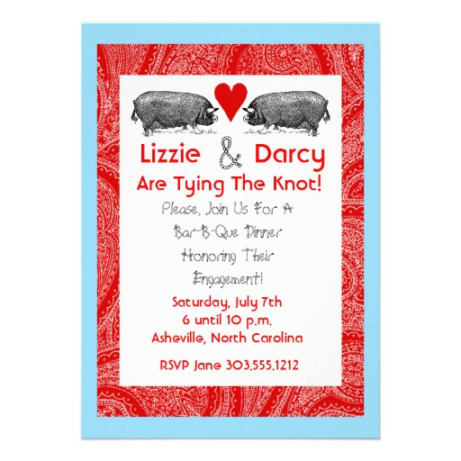 Pig Pickin' Save The Date Cards Personalized Announcements