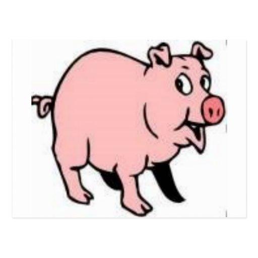pig pig postcard